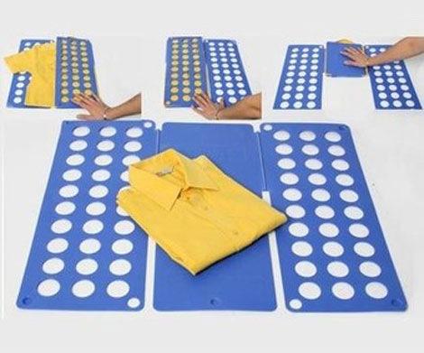 Inventos para doblar ropa facilmente - Tabla doblar camisetas ...