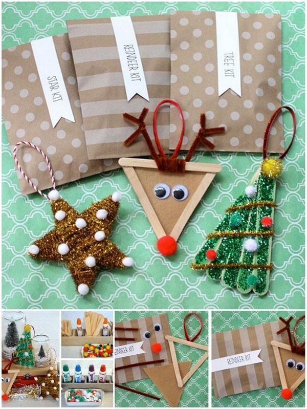 15 adornos de navidad que puedes hacer con tus hijos