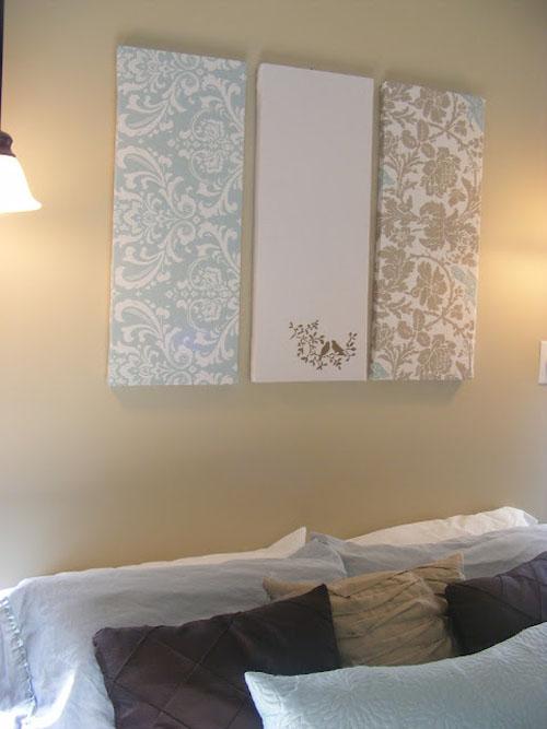 15 creaciones propias para tus paredes - Telas para tapizar paredes ...