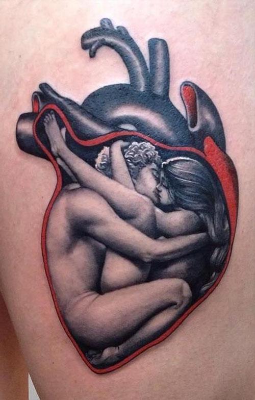 Tatuajes Inspiradores para San Valentín Mini Tatuajes Corazones